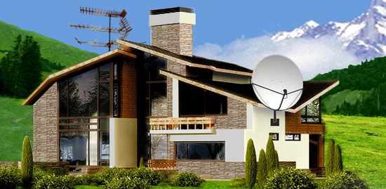 Установка спутникового телевидения